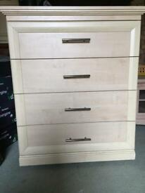 Chest drawer on castrols in wash pine colour