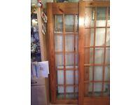 2 solid wooden internal doors
