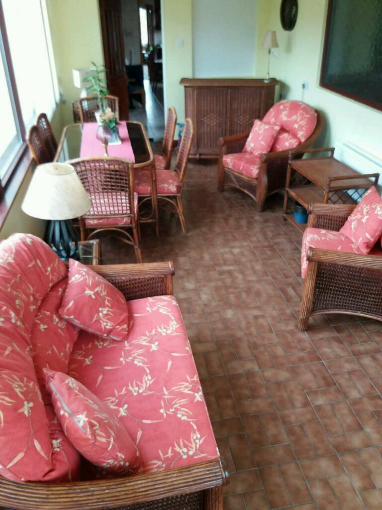 Selection of Pinewick matching designer conservatory furniture table chairs sunroom complete kit