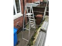 Heavy duty platform ladders