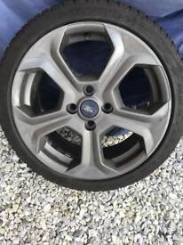 Fiesta st wheel Michelin pilot sport tyre