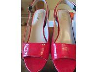 Lotus red shiney croc sandal size 6