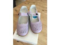 Ladies Lilac Damart Popper Strap Shoe