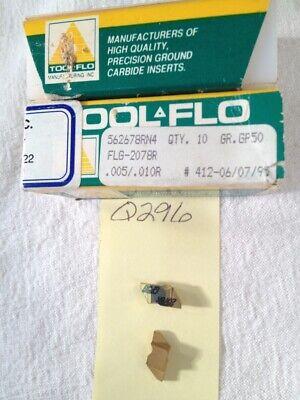 11 New Tool-flo Ng 2078r Top Notch Carbide Inserts. Grade Gp50. Q296