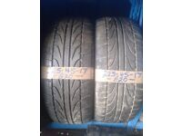 2x 225-45-17 Raida 91W 5.5mm Part Worn Tyres