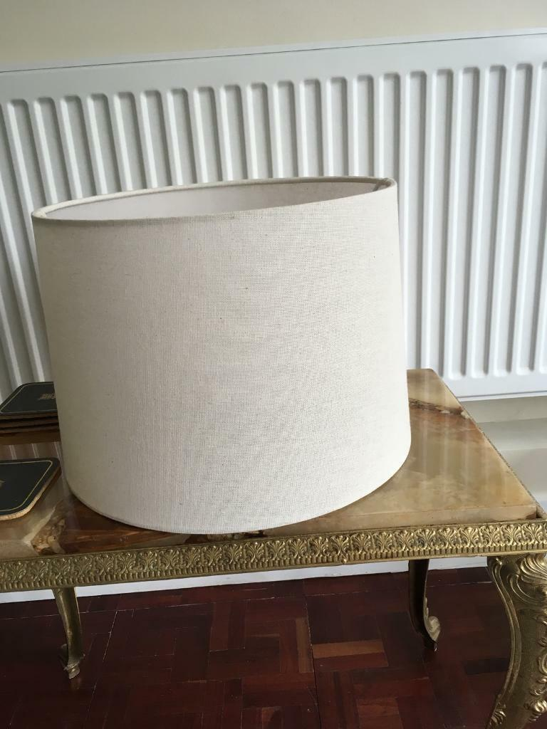 Lampshade-ivory, lamp or ceiling light. Cotton weave.
