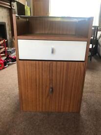 Retro record player cabinet