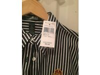 Brand new blue and white striped Ralph Lauren shirt