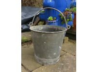 Vintage rustic heavy French Bucket /planter
