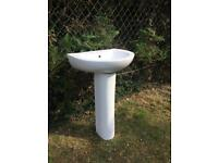 Pedestal Washbasin Bathroom Washroom Sink