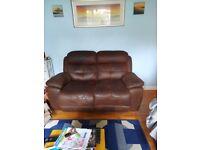 2 x 2 seater reclining sofas