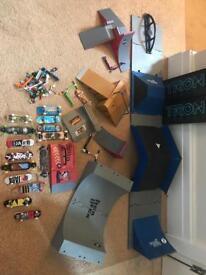 Tec Dec skate ramps and Tec Dec finger boards