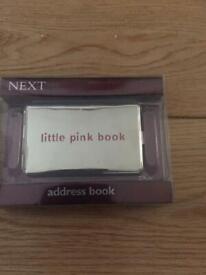 Next little pink book address book