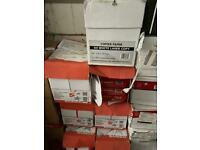 Boxes of A4 copier paper - slightly damaged so only £10 per box