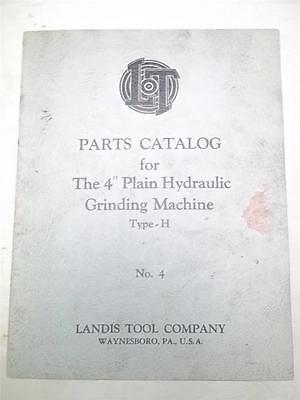 Parts Cataloglandis 4 Grinding Machine Type-h No. 4manual