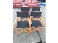 Lovely 4 foldable chairs in very good condition