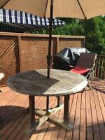 Teak round table for sale