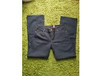 Newlook bootcut dark blue jeans, size 14, never worn