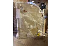 White Nabis offset Quadrant shower tray