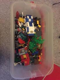 SOLD Large and small mixed boxes of Lego