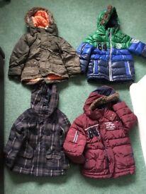 Boys age 18-24 months coats bundle x4 hardly worn