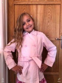Lovely girls pink lightweight jacket uk7/8