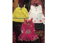 Stunning girls tops Next & butterfly girl age 7 fab condition
