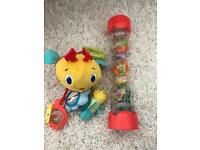Bright stars clip on pram with baby toys activity