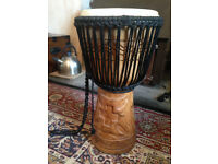Wooden Carved Djembe Drum