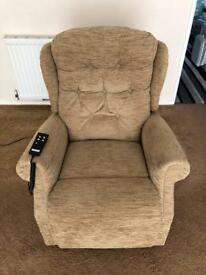 Celebrity dual motor, rise and recliner chair, hardly used