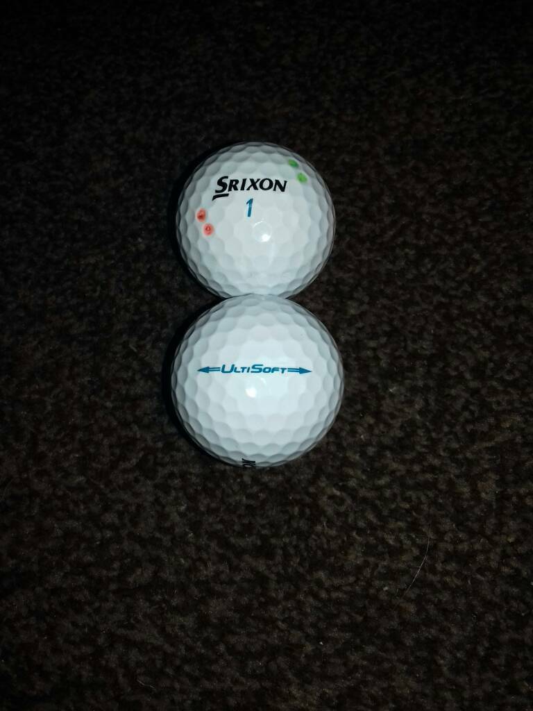 14 Used Srixon Ultisoft golf balls in great condition.