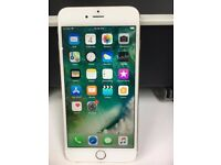 iPhone 6 Plus 16gb unlocked Gold white. Good condition WITH warranty & Receipt