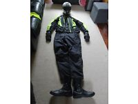 Motorcycle Clothes full set with Helmet, Boots and Gloves VGC as hardly used