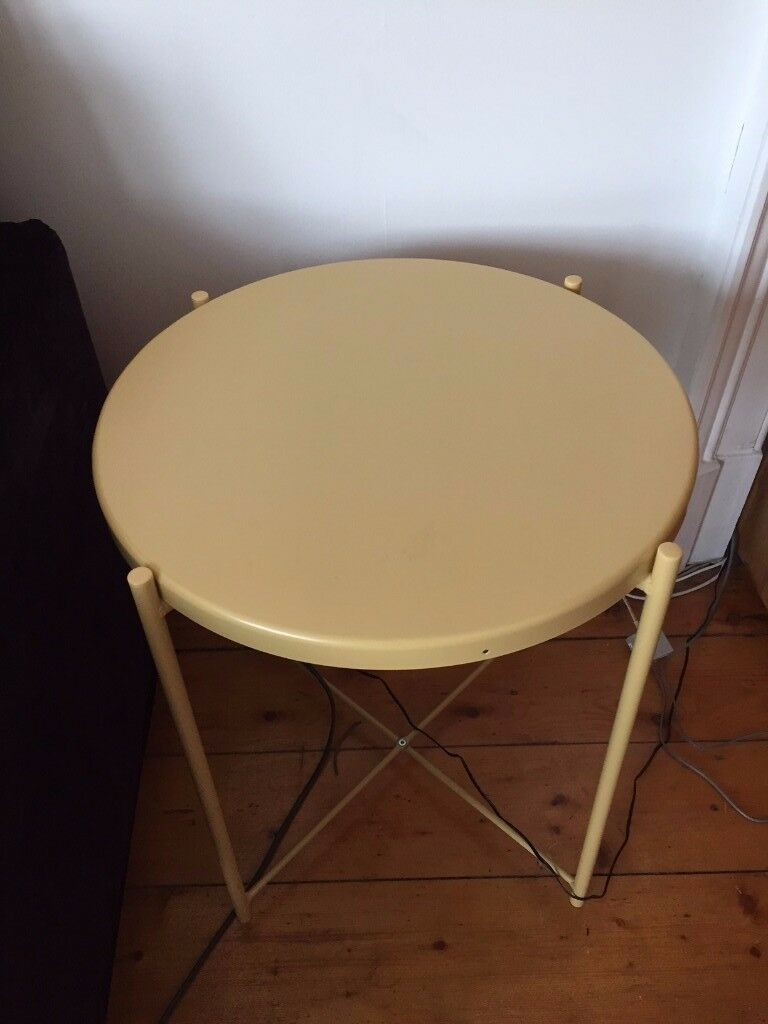 Ikea Yellow Gladom Metal Side Table In Langside