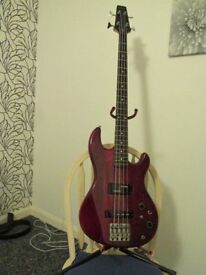 Bass guitar, Aria ProII Laser Electric Bass. Collectors item.