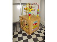 LARGE WOODEN ACTIVITY CUBE LEICESTER