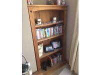 Solid oak bookcase bookshelf unit