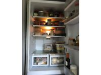 SILVER HOTPOINT FROST FREE FRIDGE FREEZER 5 SHELVES AND 4 DRAWERS EXCELLENT