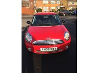 Mini One 2008 1,4 petrol, Manual, Red, One lady owner from new, LOW MILEAGE