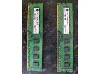 2 x 4GB DDR3 Ram 1333mhz.. used and in working order.