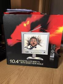 """Mini TV, Digital LCD, 10.4"""" with inbuilt freeview tuner and/or PC monitor."""