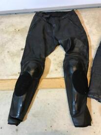 Daniese Leather Motorbike Trousers