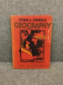 Rare vintage retro antique HB book HOME AND OVERSEAS GEOGRAPHY R H DUCE 1935 SDHC