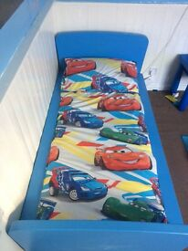 Blue toddler bed