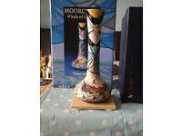 Moorcroft Winds of Change Vase+Hardback Book.