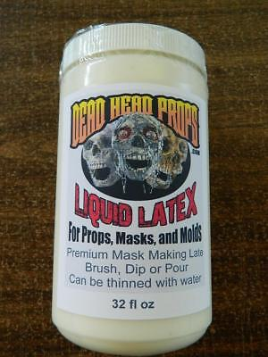 Liquid Latex Halloween Mask (1 QUART (32OZ) LIQUID LATEX FOR HALLOWEEN PROPS, MASKS OR)