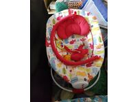 Baby recliner vibrates musical used twice