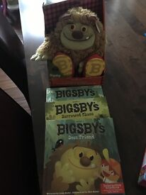 Bigsby interractive toy & 3 books