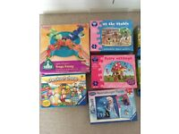 Selection of kids games and jigsaws