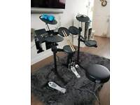 Yamaha DTX430 drum kit with extras